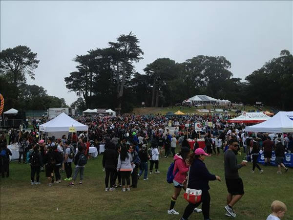 An estimated 20,000 people participated in the 28th annual AIDS Walk San Francisco, collectively raising more than $2 million. <span class=meta>KGO Photo</span>