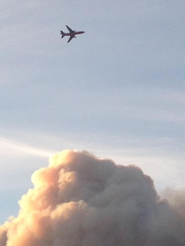 <div class='meta'><div class='origin-logo' data-origin='none'></div><span class='caption-text' data-credit='@poordoug/Twitter'>A viewer snapped this image from Vacaville of a large fire burning south of Lake Berryessa, July 22, 2015.</span></div>