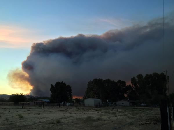 <div class='meta'><div class='origin-logo' data-origin='none'></div><span class='caption-text' data-credit='@Sunkissd82/Twitter'>A viewer snapped this image from Vacaville of a large fire burning south of Lake Berryessa, July 22, 2015.</span></div>