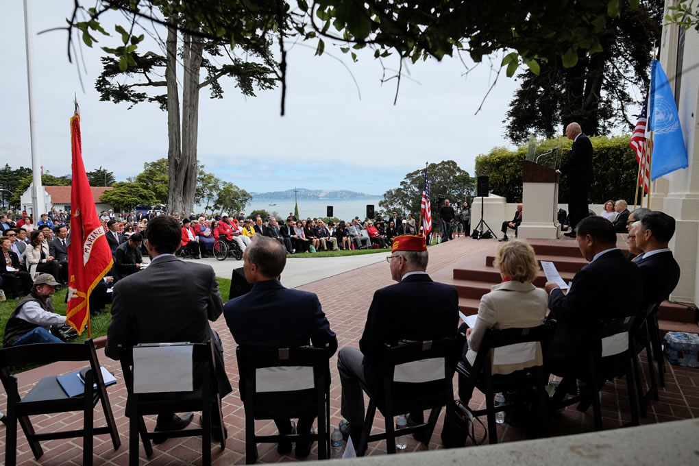 <div class='meta'><div class='origin-logo' data-origin='none'></div><span class='caption-text' data-credit='Wayne Freedman/KGO-TV'>The Korean War Memorial was unveiled in San Francisco's Presidio National Cemetery on Monday, August 1, 2016.</span></div>
