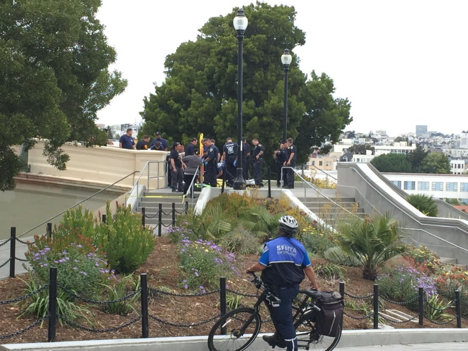 Gunman wounds three at San Francisco park packed with families and tourists