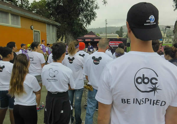 ABC7 and KaBOOM team up to build a dream playground in the Millsmont neighborhood in East Oakland, California, August 8, 2014. <span class=meta>KGO Photo/ ABC7 News Reporter Wayne Freedman</span>