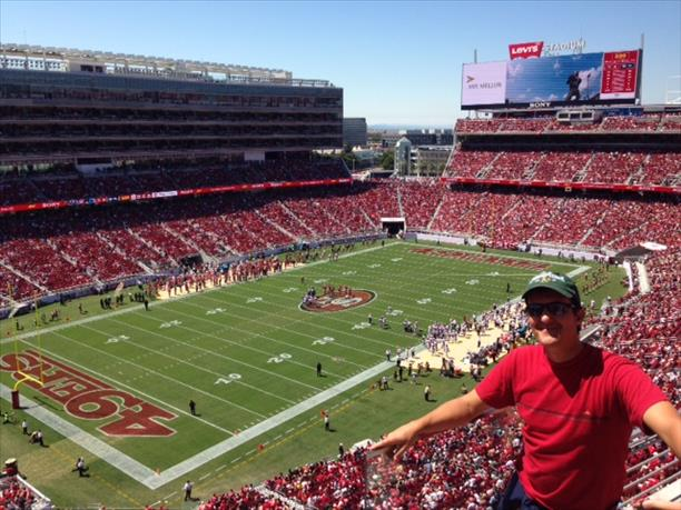 "<div class=""meta ""><span class=""caption-text "">Mark L. at the first 49ers preseason game at Levi's Stadium. (Photo submitted by Kevin S. via uReport)</span></div>"
