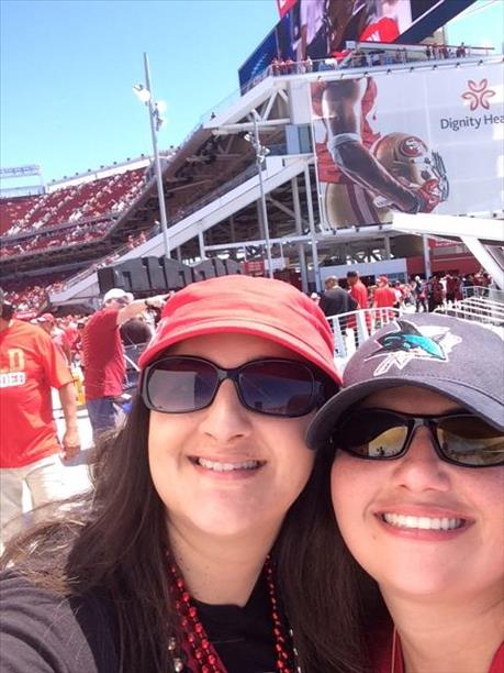 "<div class=""meta ""><span class=""caption-text "">49ers home opener! (Photo submitted by Casandra H. via uReport)</span></div>"