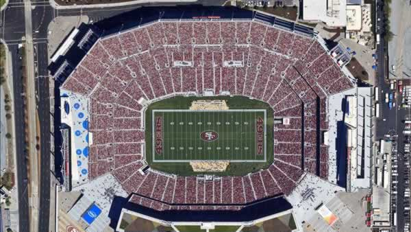 An aerial photo of Levi&#39;s Stadium <span class=meta>(Photo submitted via uReport by Brian H.&#47;Skyhawk Photography)</span>