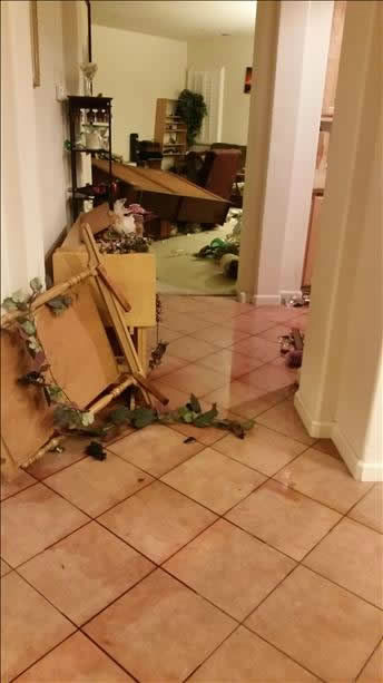 Strong earthquake in Napa County felt all over the Bay Area.  Photo submitted via uReport.