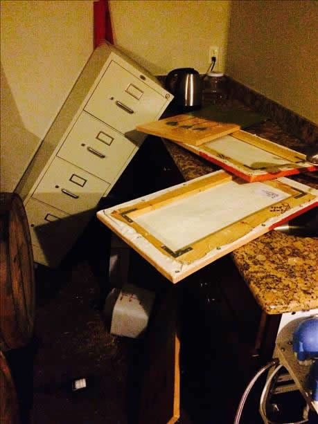Strong earthquake in Napa County felt all over the Bay Area.  Photo submitted via uReport. <span class=meta>(photo submitted via uReport)</span>