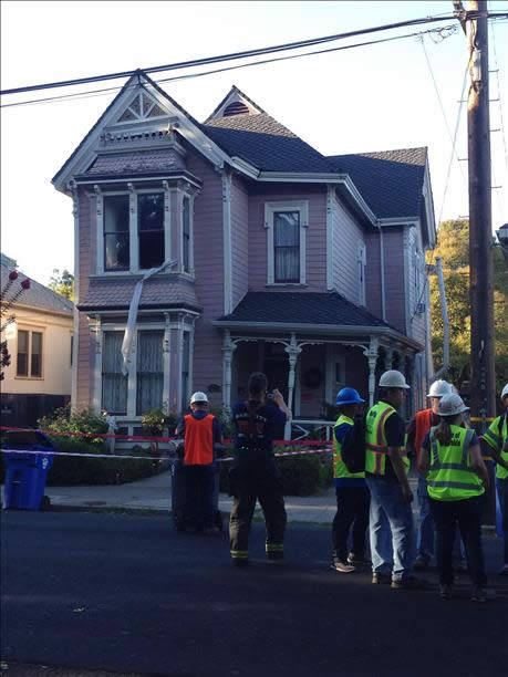 "<div class=""meta ""><span class=""caption-text "">Foundation collapse of a home on Oak and Seminary in Napa after the 6.0 magnitude earthquake on August 24, 2014. (photo submitted by Frank Fradella via uReport )</span></div>"