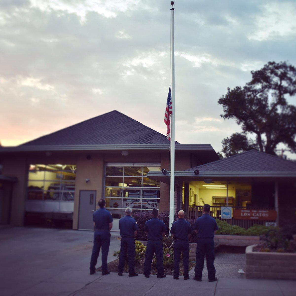 <div class='meta'><div class='origin-logo' data-origin='none'></div><span class='caption-text' data-credit='sccfiredept/Twitter'>The Santa Clara County Fire Department tweeted this photo on Monday, Sept. 11, 2017 to pay tribute to the victims of 9/11.</span></div>