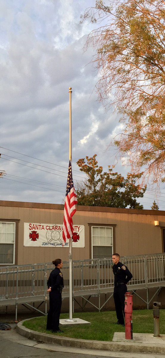 <div class='meta'><div class='origin-logo' data-origin='none'></div><span class='caption-text' data-credit='SunnyvaleDPS/Twitter'>First responders gathered in Sunnyvale, Calif. on Monday, Sept. 11, 2017 to pay tribute to the victims of 9/11.</span></div>