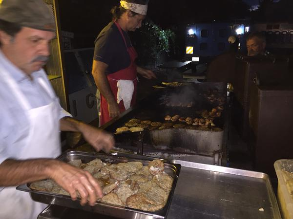 <div class='meta'><div class='origin-logo' data-origin='none'></div><span class='caption-text' data-credit='KGO-TV'>Bacon, sausage and potatoes are being cooked up for breakfast for the evacuees at the Napa County Fairgrounds in Calistoga, Calif. on Tuesday, September 15, 2015.</span></div>