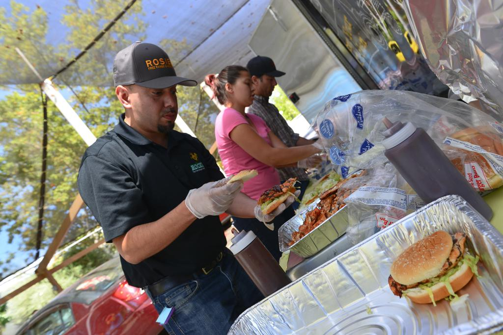 <div class='meta'><div class='origin-logo' data-origin='none'></div><span class='caption-text' data-credit='KGO-TV'>Volunteers cook food for evacuees at the Napa County Fairgrounds in Calistoga, Calif. on Tuesday, September 15, 2015.</span></div>