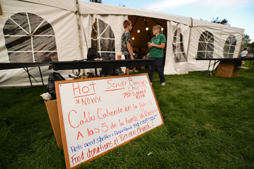 "<div class=""meta image-caption""><div class=""origin-logo origin-image ""><span></span></div><span class=""caption-text"">Weed residents are making donations to help families who lost everything in the Boles Fire.  (Wayne Freedman )</span></div>"