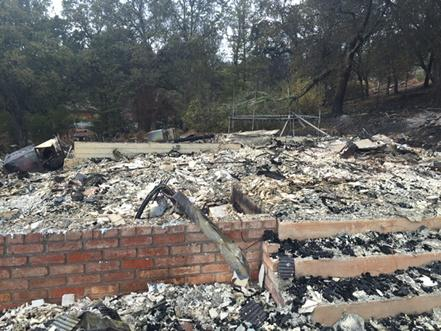 <div class='meta'><div class='origin-logo' data-origin='none'></div><span class='caption-text' data-credit='KGO-TV'>A home that was completely destroyed by the Valley Fire is seen in this image on September 16, 2015.</span></div>
