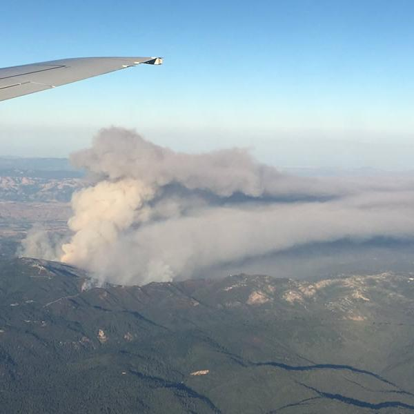 <div class='meta'><div class='origin-logo' data-origin='none'></div><span class='caption-text' data-credit='Photo submitted to KGO-TV by @DrewTumaABC7/Twitter'>The Loma Fire burns in the Santa Cruz Mountains on Tuesday, September 27, 2016.</span></div>