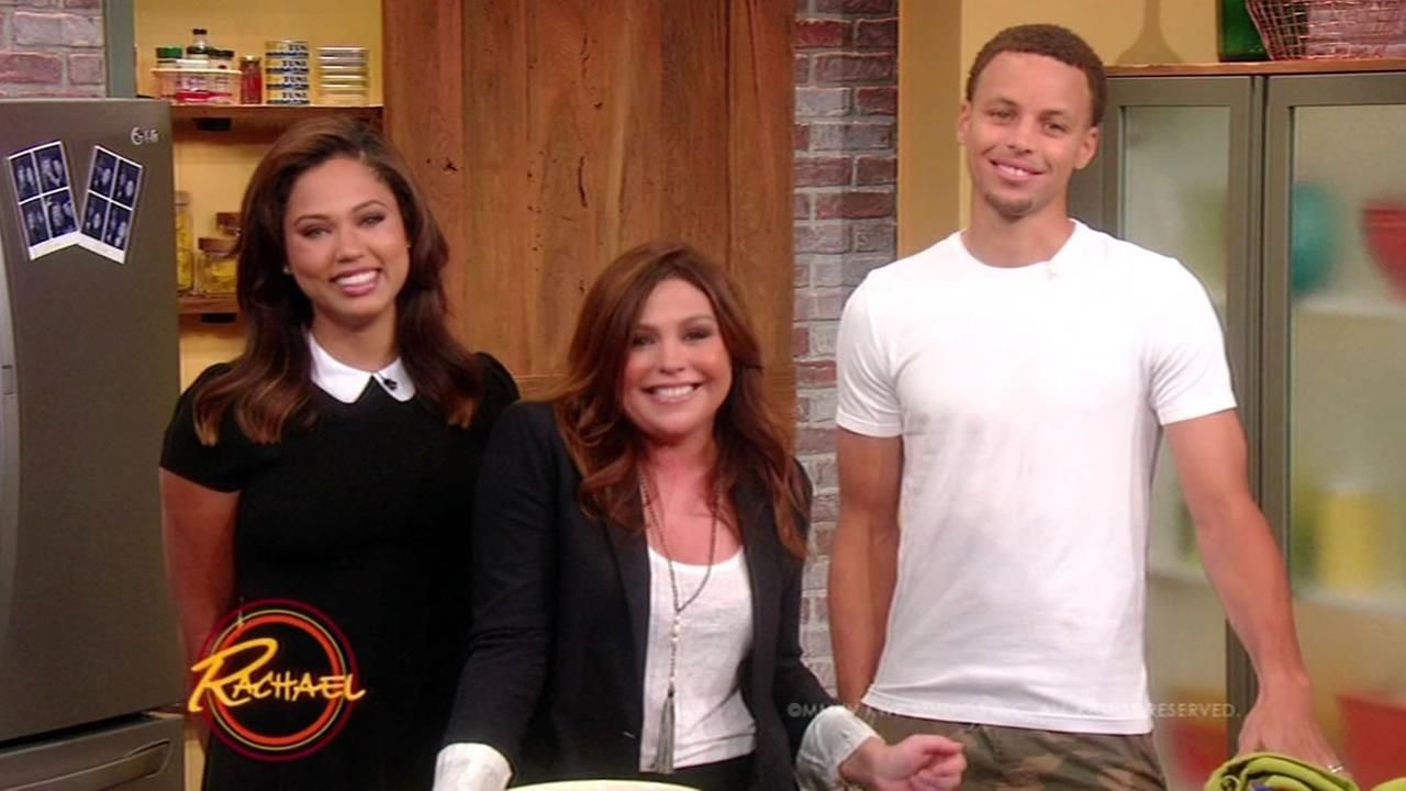 golden state warriors star steph curry wife ayesha to cook on rachael ray show abc7newscom - Stephen Curry Wedding Ring