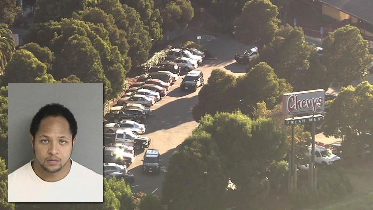 A suspect search has prompted a lockdown near Powell Street and Interstate 80 in Emeryville, Calif. on Friday, September 25, 2015.