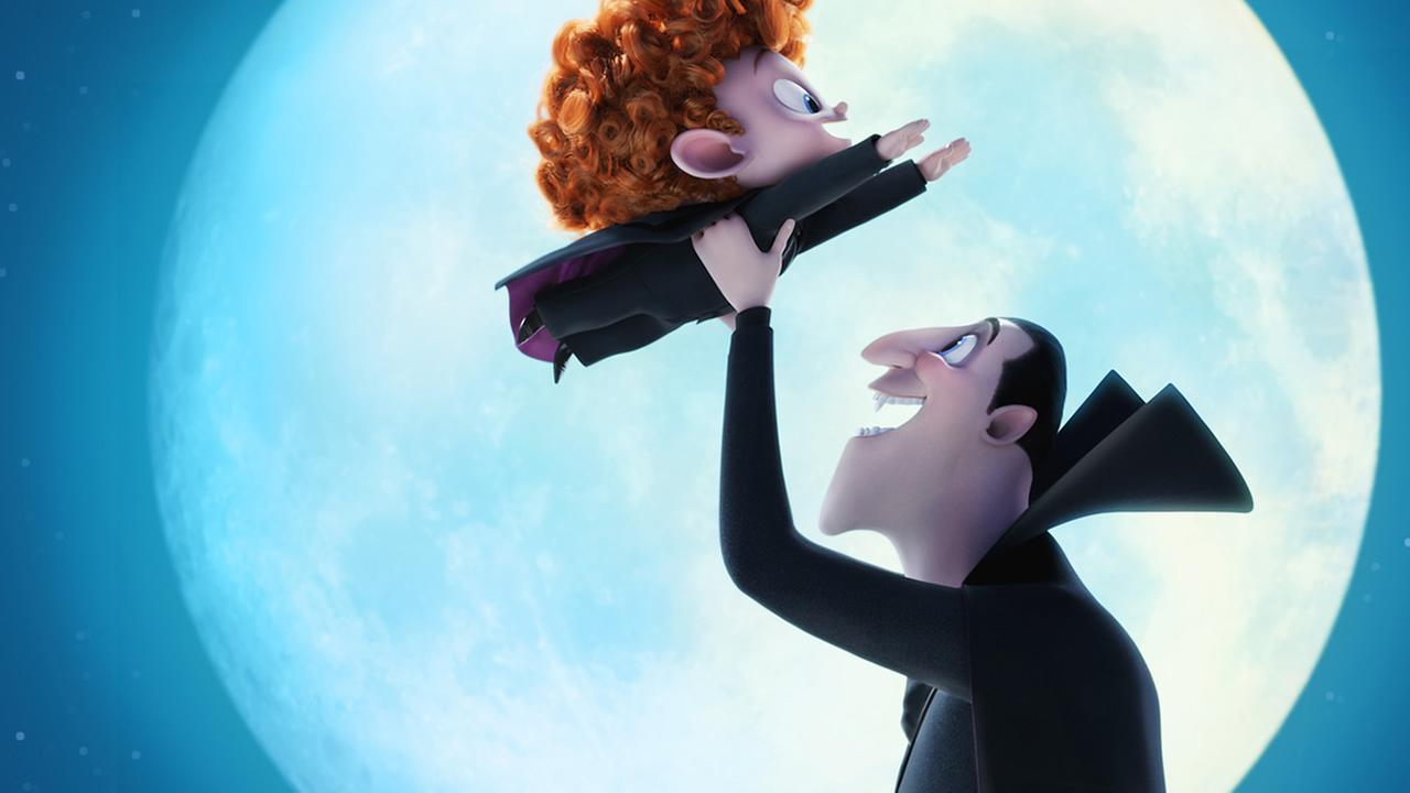 This image released by Sony Pictures Animation shows Dennis and Dracula in a scene from in Hotel Transylvania 2. (Sony Pictures Animation via AP)
