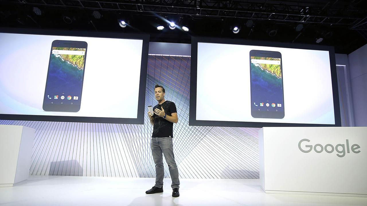 Dave Burke, vice president of engineering at Google, speaks about the new Google Nexus 6P during an event on Tuesday, Sept. 29, 2015, in San Francisco.