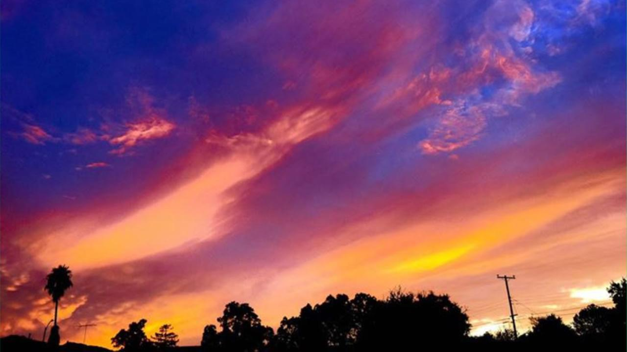 This beautiful sunset photo was spotted in Calif. Sept. 30, 2015.