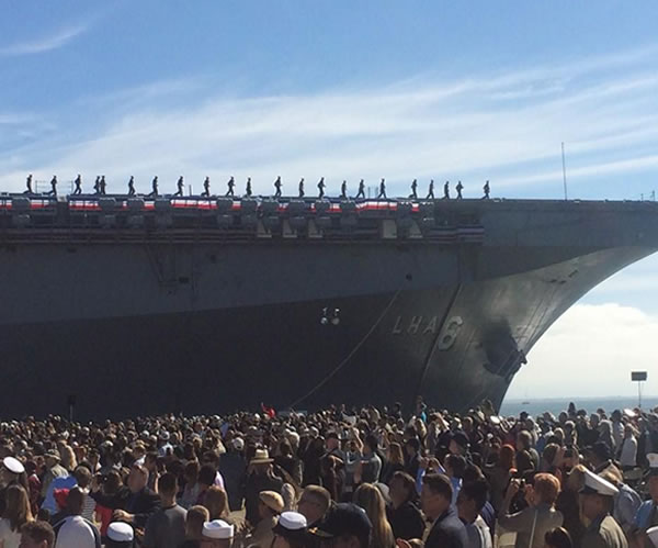 """<div class=""""meta image-caption""""><div class=""""origin-logo origin-image """"><span></span></div><span class=""""caption-text"""">Commissioning ceremony held for USS America in San Francisco, Calif. on Saturday October 11, 2014.</span></div>"""