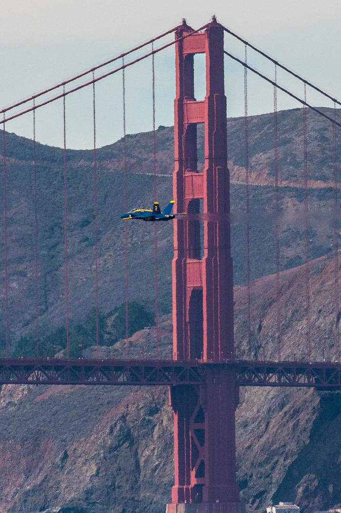 <div class='meta'><div class='origin-logo' data-origin='none'></div><span class='caption-text' data-credit='Photo submitted to KGO-TV by shephardbshepard/Twitter'>The Fleet Week air show featuring the Navy's Blue Angels and other military aircrafts took flight over the San Francisco Bay on Saturday, October 10, 2015.</span></div>