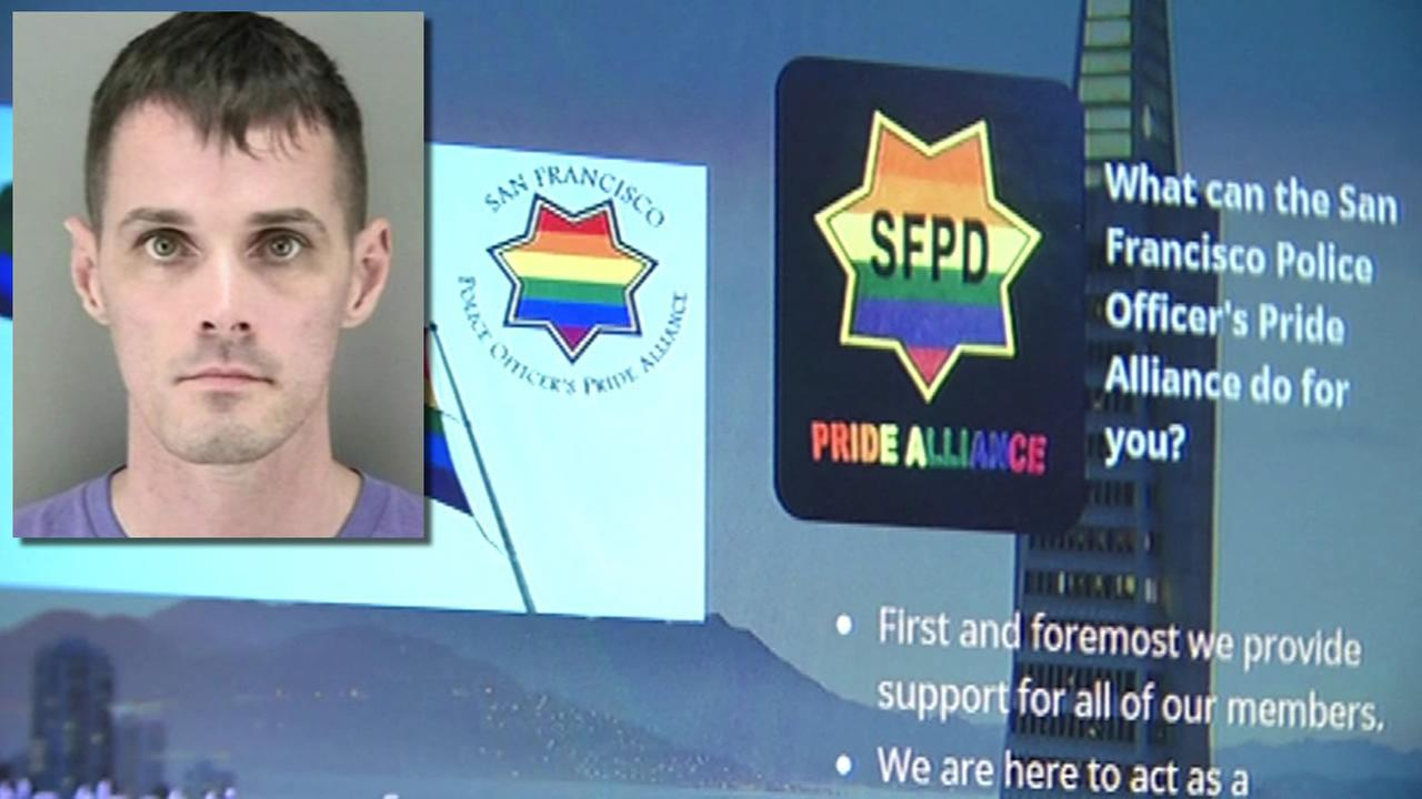 This undated image shows former San Francisco Police Officer Mike Evans, who is accused of stealing money from the Pride Alliance group.