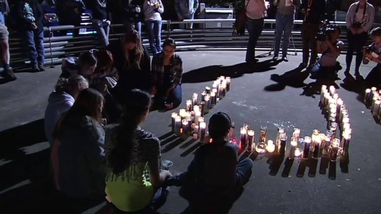 vigil after Umpqua Community College shooting