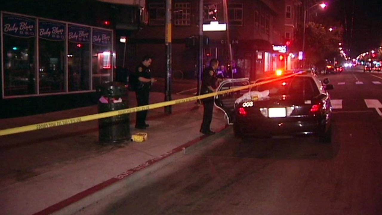 San Francisco police officer injured after being struck by suspect in vehicle, Monday, October 5, 2015.