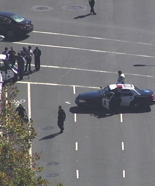 <div class='meta'><div class='origin-logo' data-origin='none'></div><span class='caption-text' data-credit='KGO-TV'>Police are investigating a bomb threat near the Hall of Justice in San Francisco, Calif. on Thursday, October 20, 2016.</span></div>