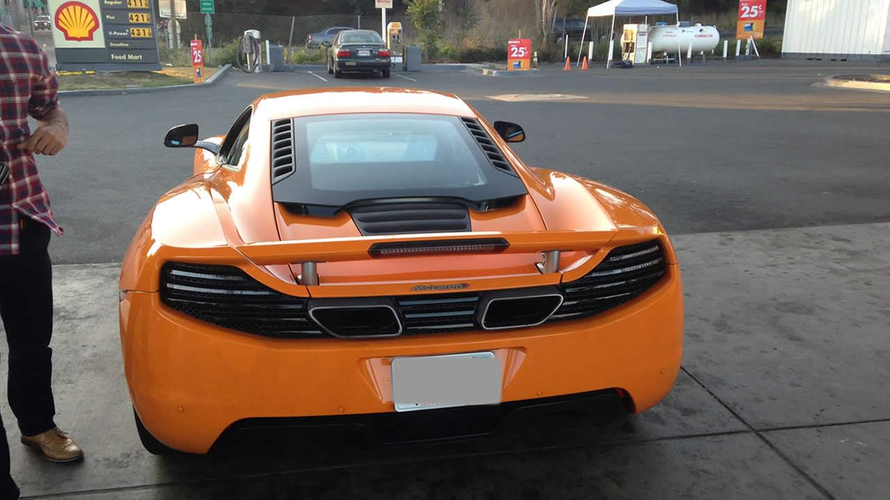 Mohanned Halaweh, 19, was arrested after he was pulled over while driving this 2012 McLaren coupe.
