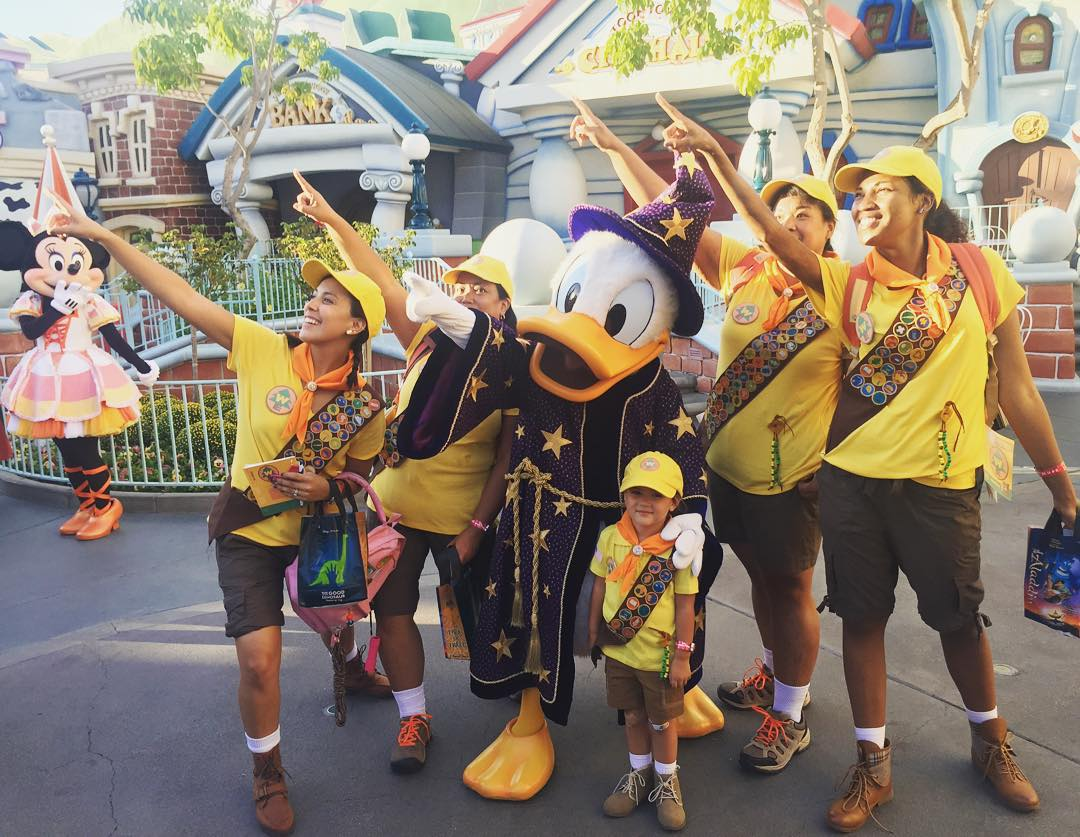 "<div class=""meta image-caption""><div class=""origin-logo origin-image none""><span>none</span></div><span class=""caption-text"">The Wilderness Explorers are having a great time at Disneyland for Halloween. Share your photos by tagging them on social media with #SpookyOn7! (Photo submitted to KGO-TV by disneywithpenny/Instagram)</span></div>"