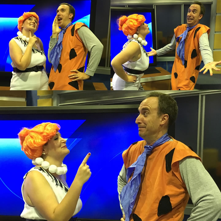 "<div class=""meta image-caption""><div class=""origin-logo origin-image none""><span>none</span></div><span class=""caption-text"">We think ABC7 News employees Shari S. and Glenn K. make a great Wilma and Fred Flintstone, don't you? Share your photos by tagging them #SpookyOn7!  (KGO-tv)</span></div>"