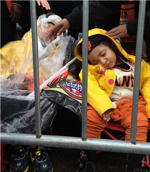 """<div class=""""meta image-caption""""><div class=""""origin-logo origin-image """"><span></span></div><span class=""""caption-text"""">Thousands of people came out to celebrate during the San Francisco Giants 2014 Victory Parade in San Francisco, October 31, 2014. (ABC7 News/Katie Marzullo)</span></div>"""
