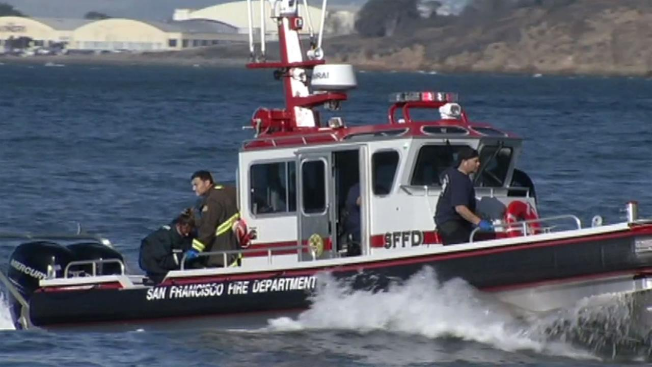 San Francisco police are investigating after a body was found floating between Angel Island and Treasure Island on Sunday, October 18, 2015.
