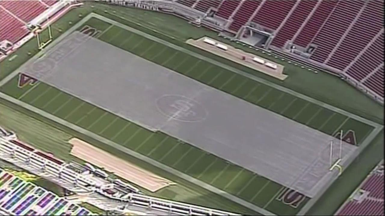 The turf at Levis Stadium in Santa Clara, Calif. is under the microscope.
