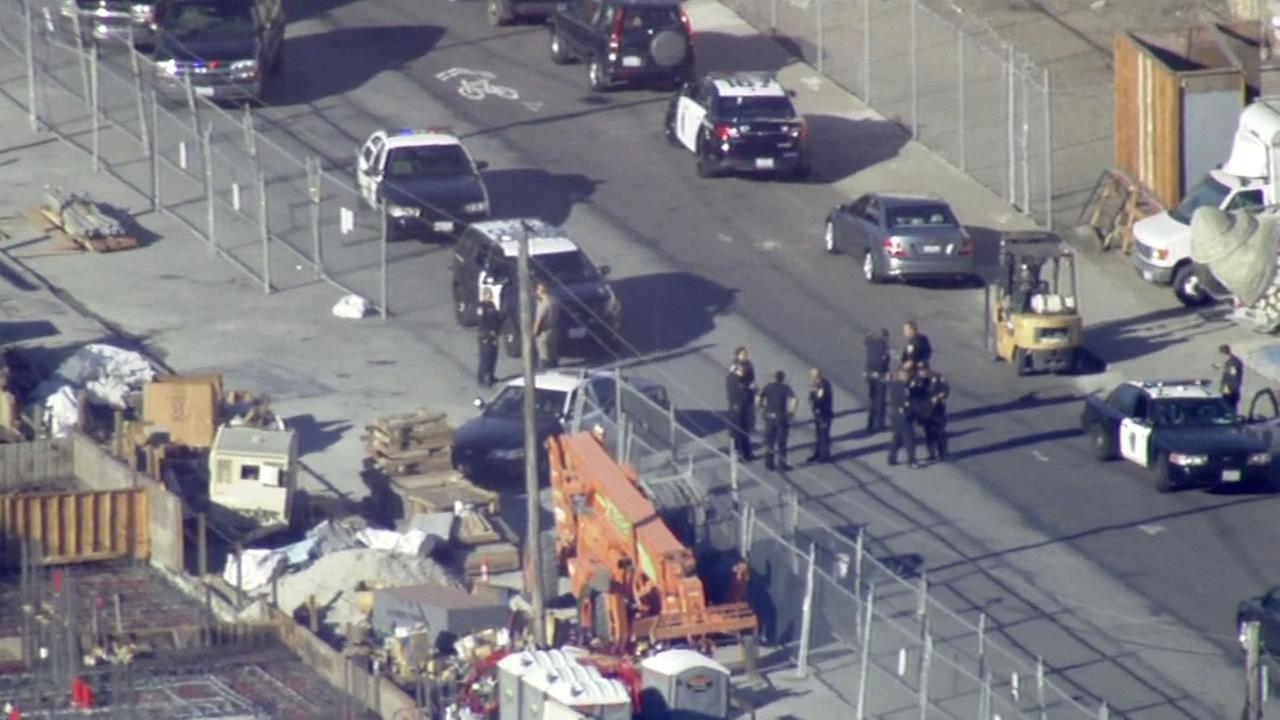 A search took place in San Francisco after a police chase on Wednesday, October 21, 2015.