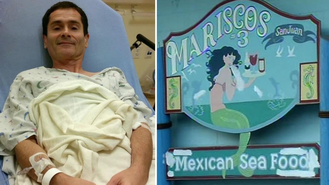Greg Meissner, who was hospitalized after eating food from Mariscos San Juan #3 in San Jose, Calif., on October 16, 2015 has filed a lawsuit against the owners.