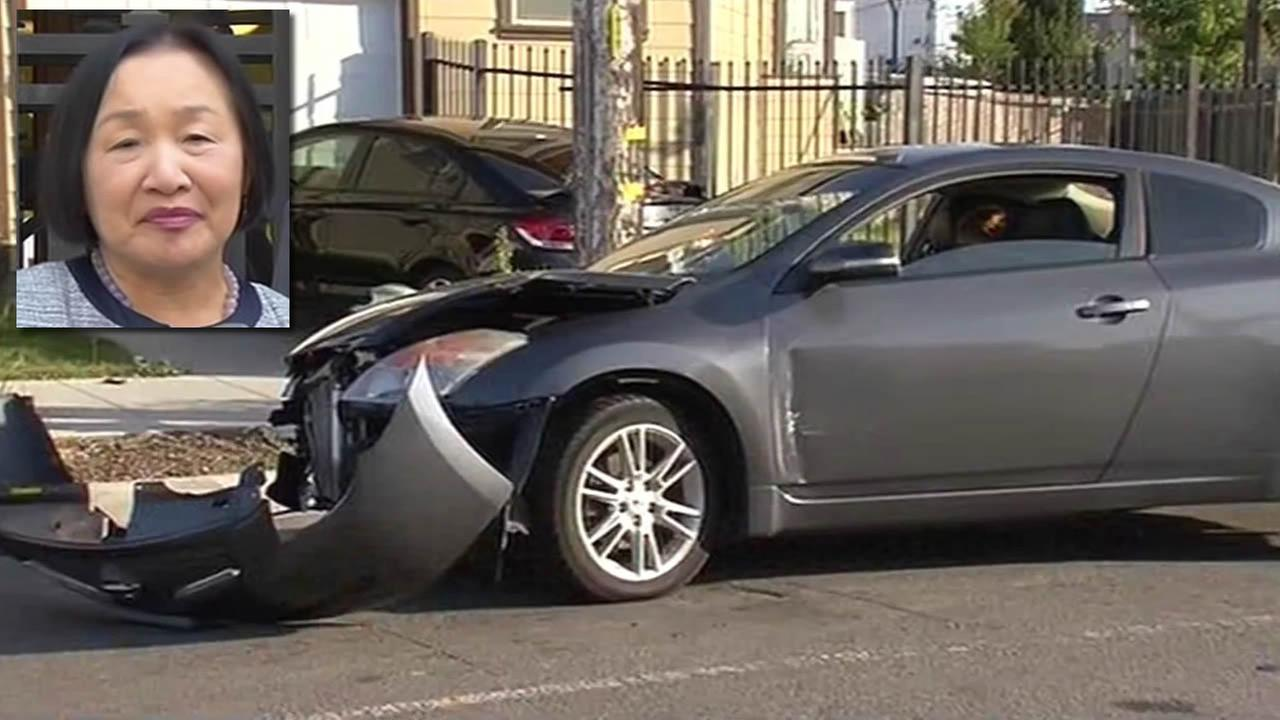 Mayor Jean Quan is accused of being on her cellphone and running a red light during a crash in Oakland.