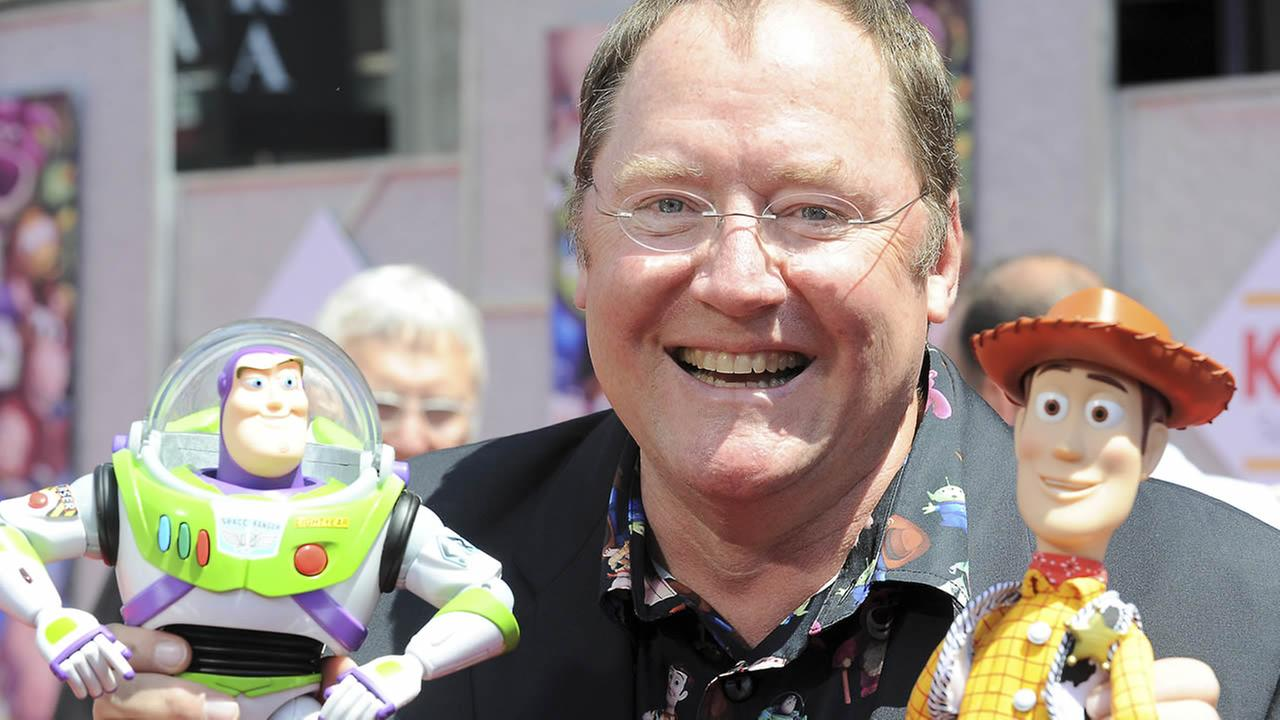 In this June 13, 2010 file photo, John Lasseter arrives at the world premiere of Toy Story 3, at The El Capitan Theater in Los Angeles. (AP Photo/Katy Winn, file)