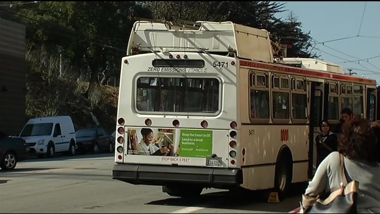 FILE - San Francisco police arrested a woman accused of being connected to a deadly assault after a fight on a Muni bus in the Mission District.