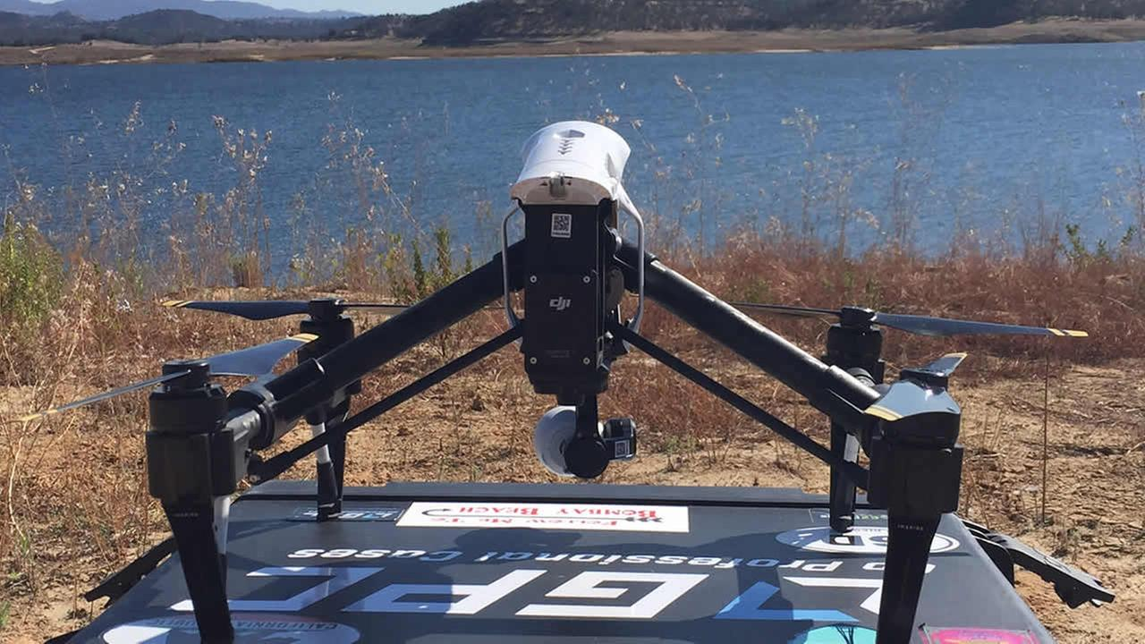 DroneView7 is seen near Camanche Reservoir in IONE, Calif. on Thursday, October 29, 2015.