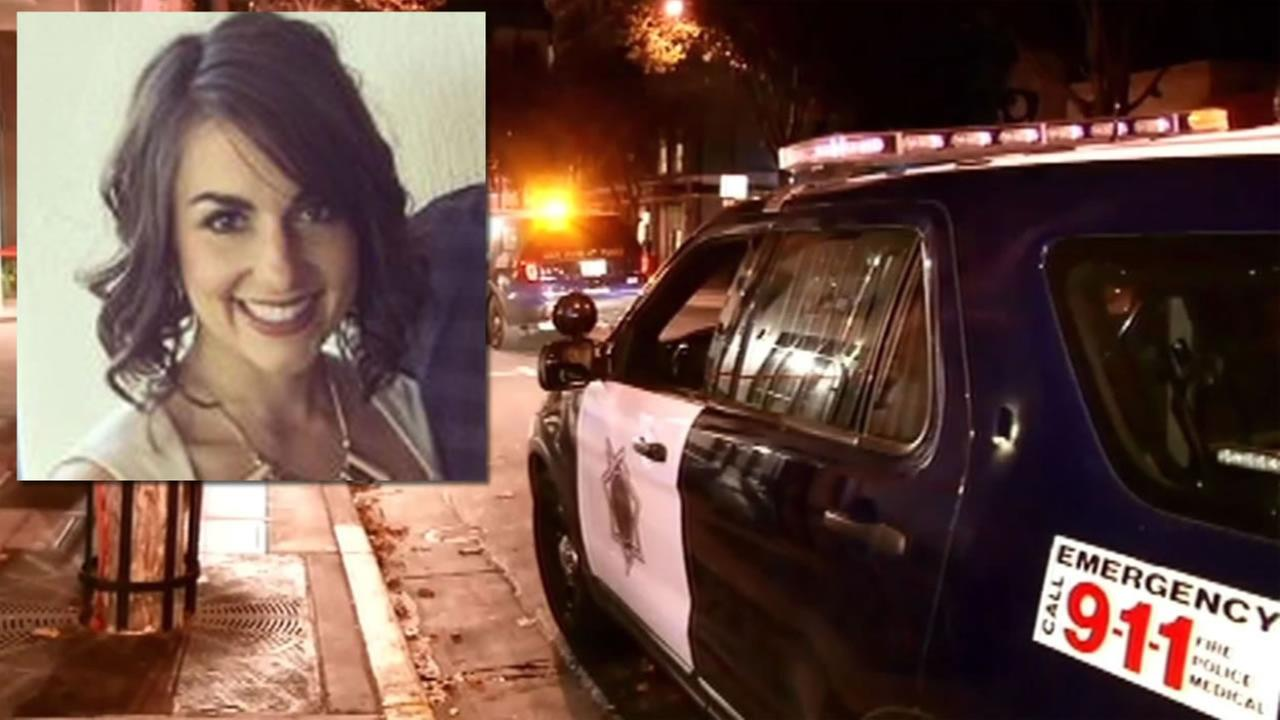 This undated photo shows Alessandra Barlas who was killed in a San Jose, Calif. apartment and her ex-boyfriend has been accused of the crime.