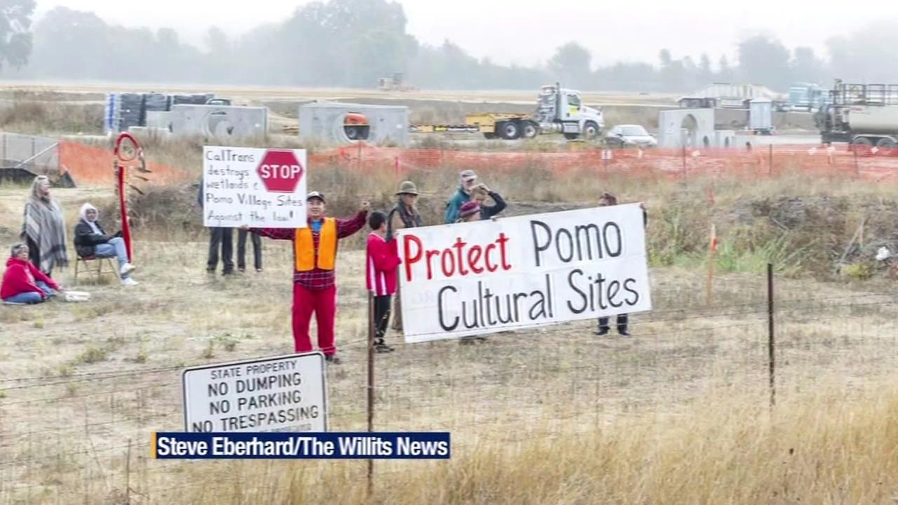 Native American tribes protest Willits bypass