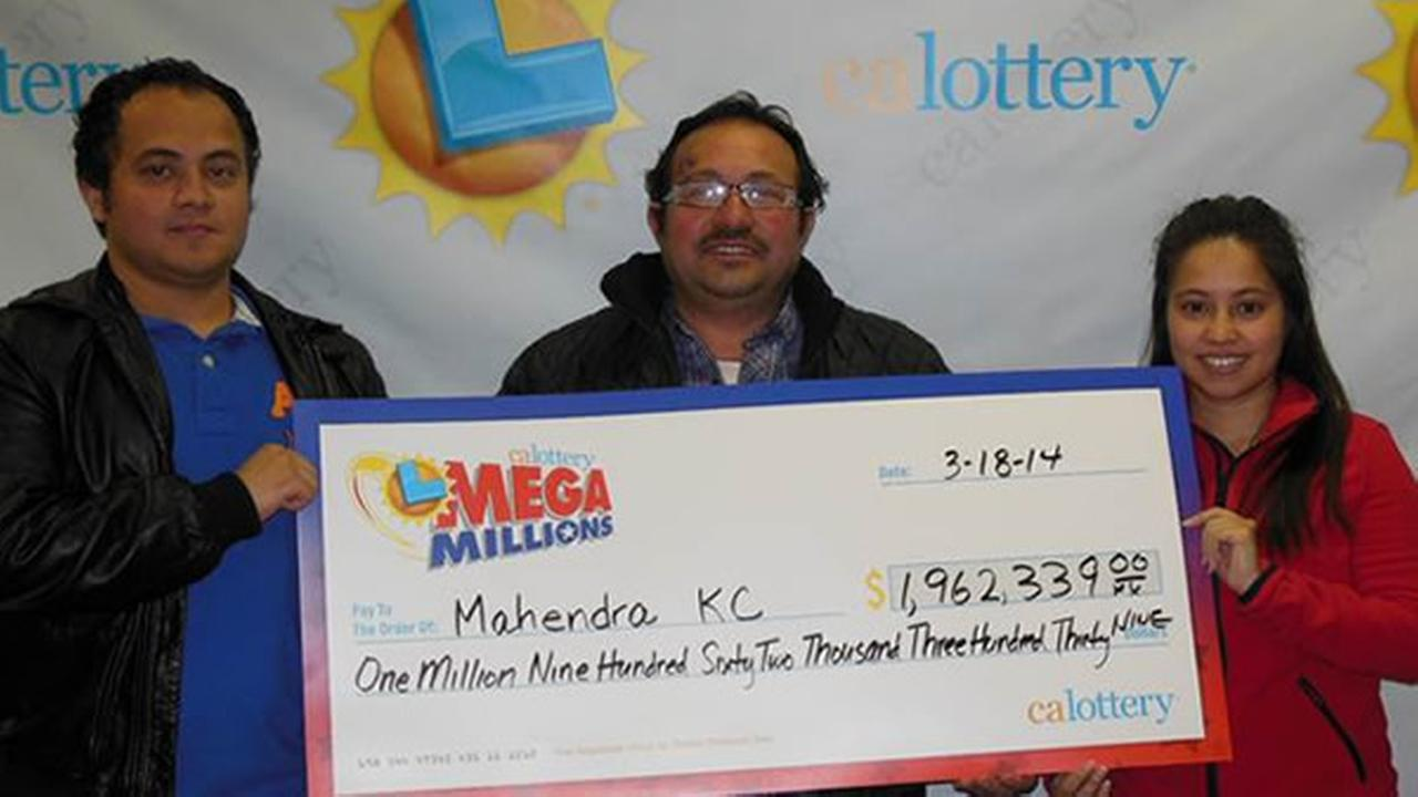 San Francisco taxi driver Mahendra KC is $1.9 million richer after he bought a Mega Millions ticket in San Bruno that matched five of the six numbers.