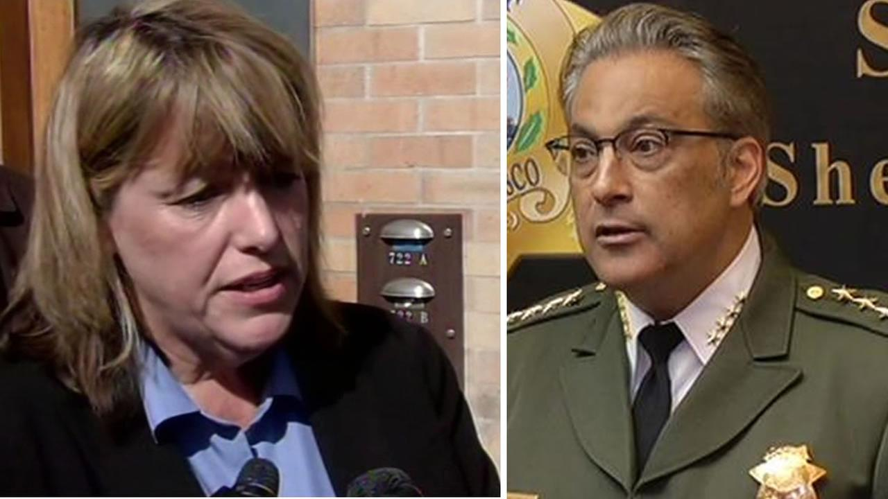 San Francisco voters elected  Vicki Hennessy over incumbent Ross Mirkarimi to San Francisco Sheriff, November 3, 2015.
