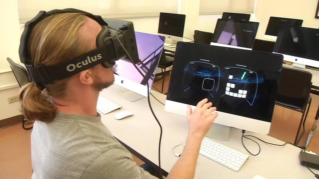 Oculus headset used on a patient with double vision.