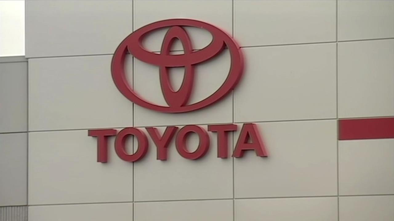 Undated photo of logo at Toyota headquarters