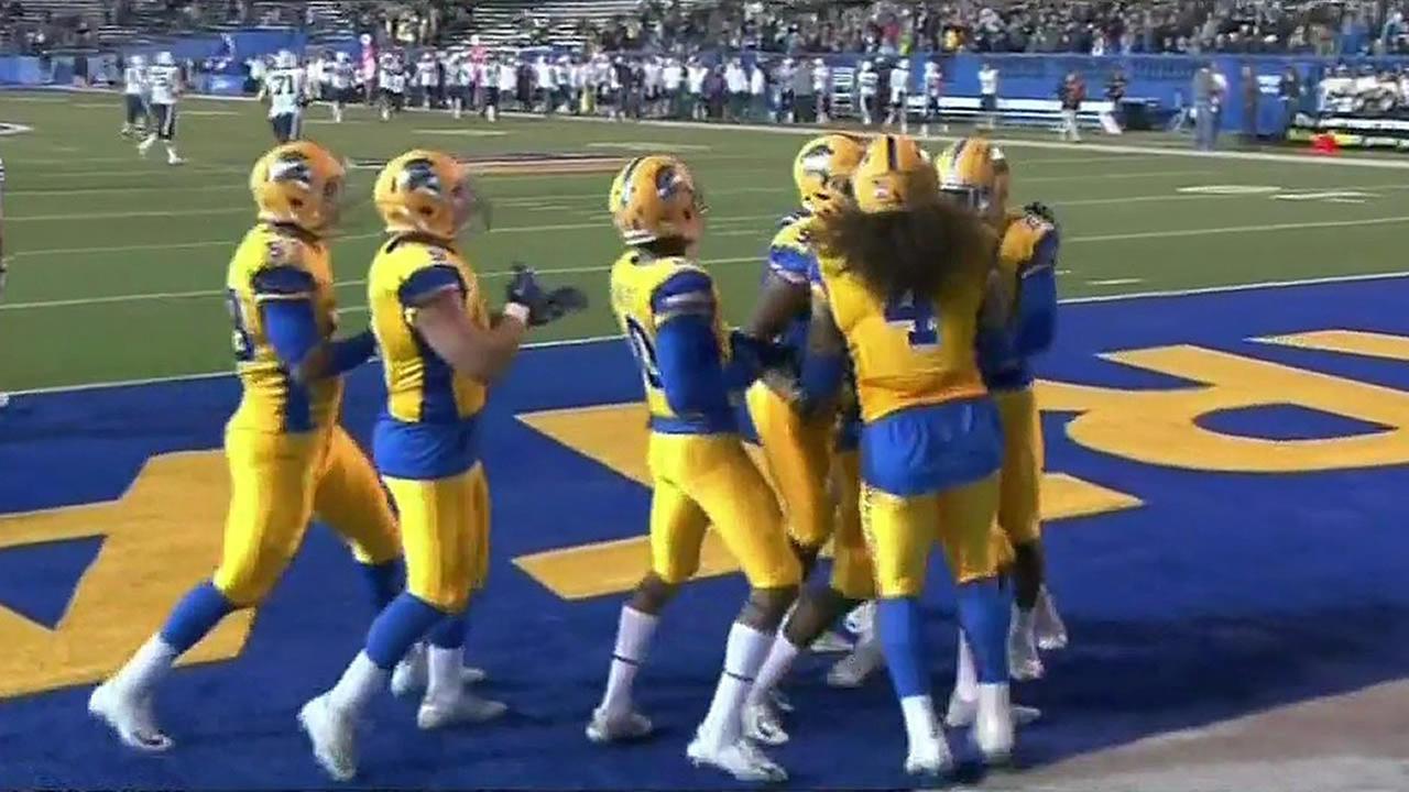 San Jose State Spartans score a touchtown