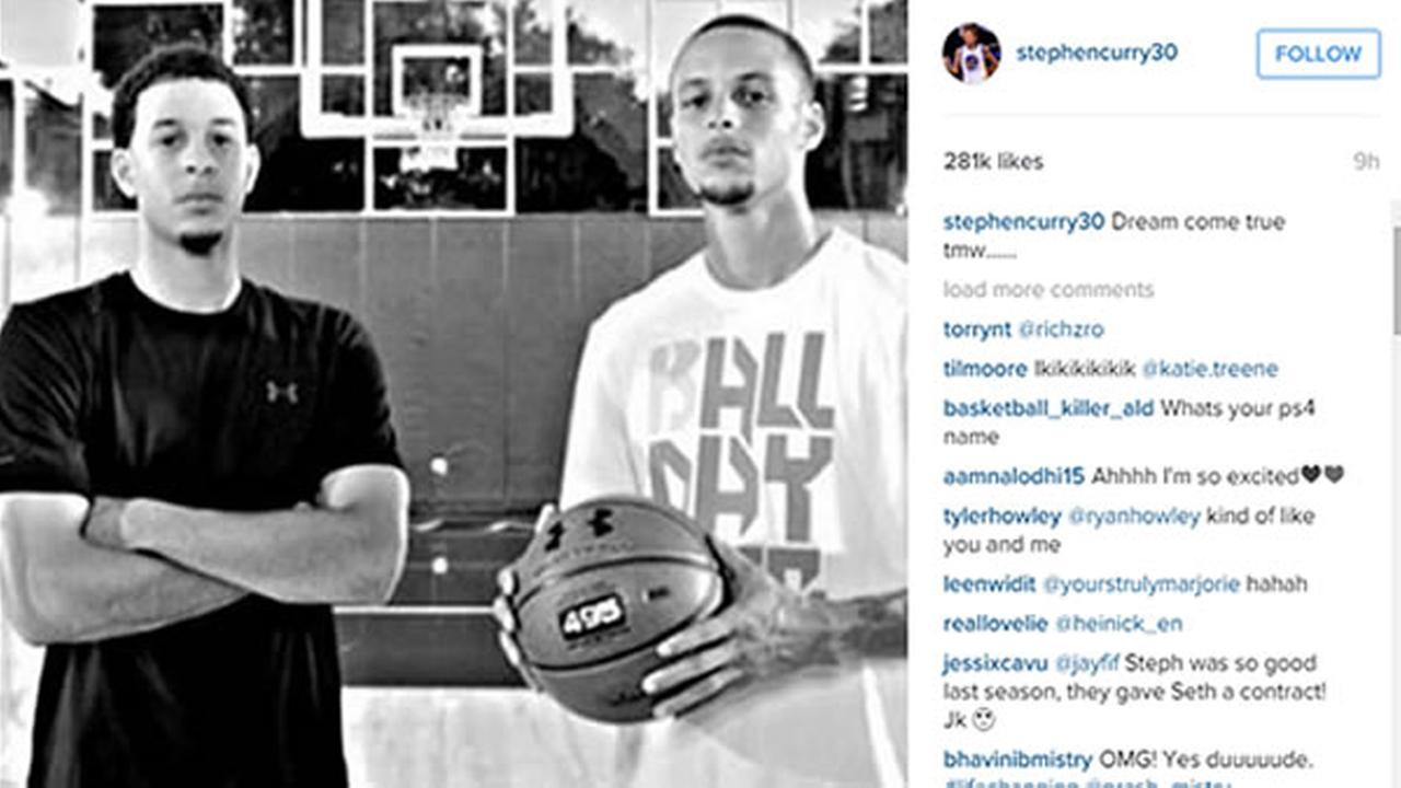 Stephen Curry posted this photo on his Instagram page on Friday, November 7, 2015.
